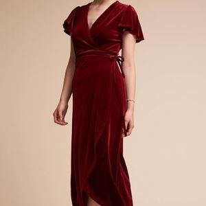 BHLDN Thrive Dress Wine Colored